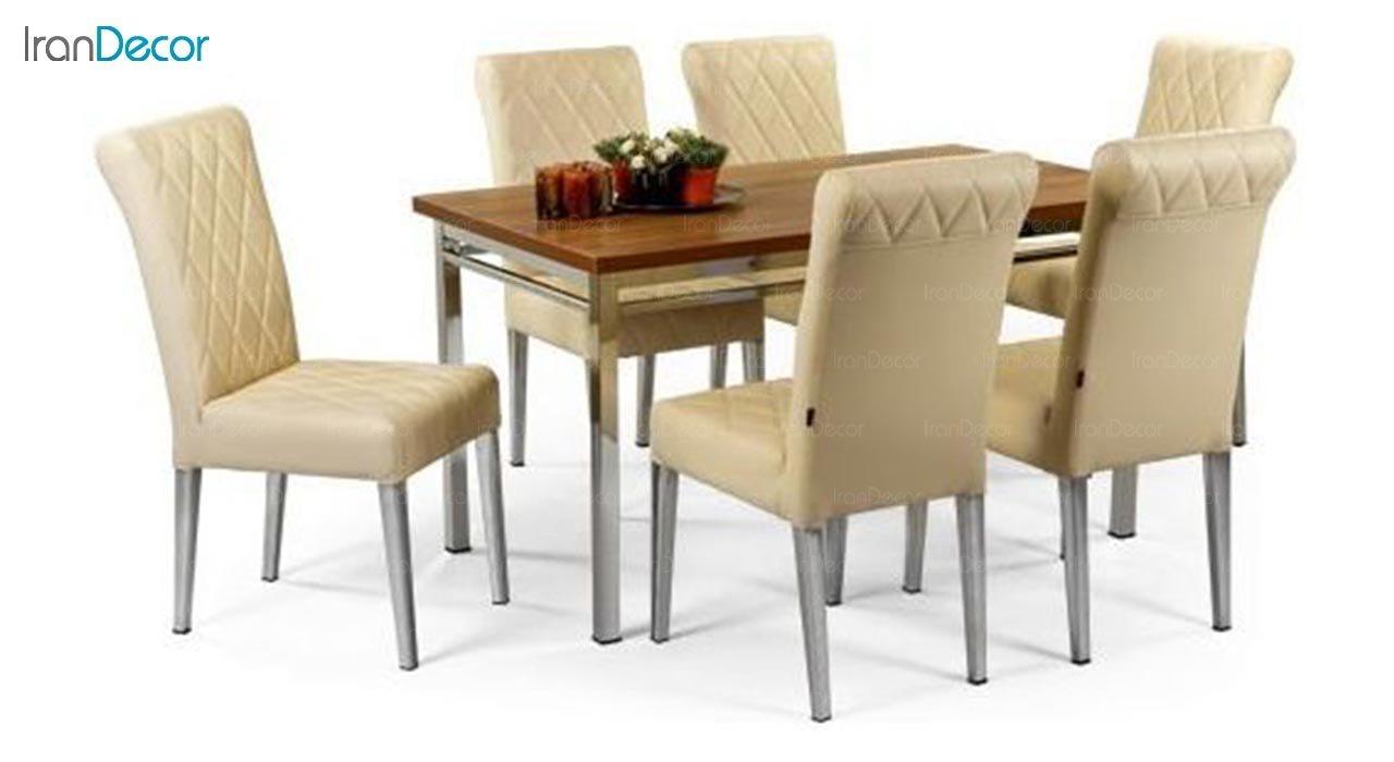 تصویر سرویس میز ناهار خوری جهانتاب مدل 1075 با صندلی رومینا