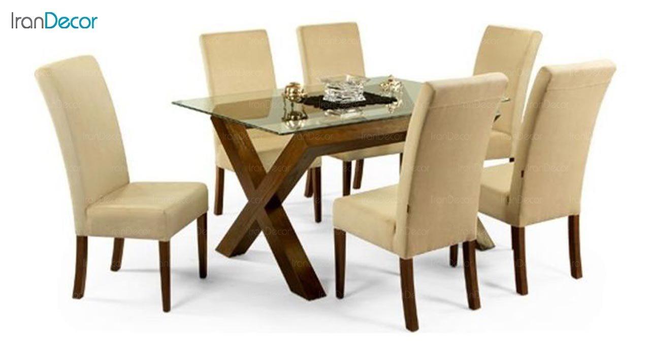 تصویر سرویس میز ناهار خوری جهانتاب مدل W16 با صندلی میلانو کد 1281
